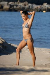 Alessandra Ambrosio in a Bikini - Beach in Rio, June 2015