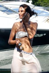 Alessandra Ambrosio in a White Bikini, June 2015