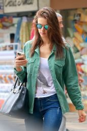 Alessandra Ambrosio in Ripped Jeans - Out in Rio de Janeiro, Brazil, June 2015