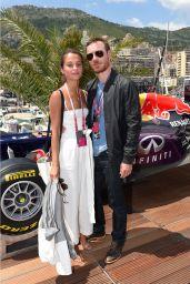 Alicia Vikander at the Infiniti Red Bull Racing Energy Station at Monte Carlo