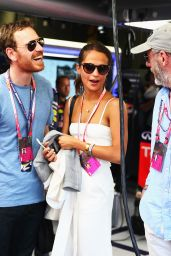 Alicia Vikander at the Infiniti Red Bull Racing Energy Station at Monte Carlo