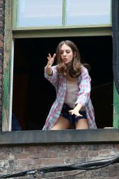 Alison Brie on the Set of