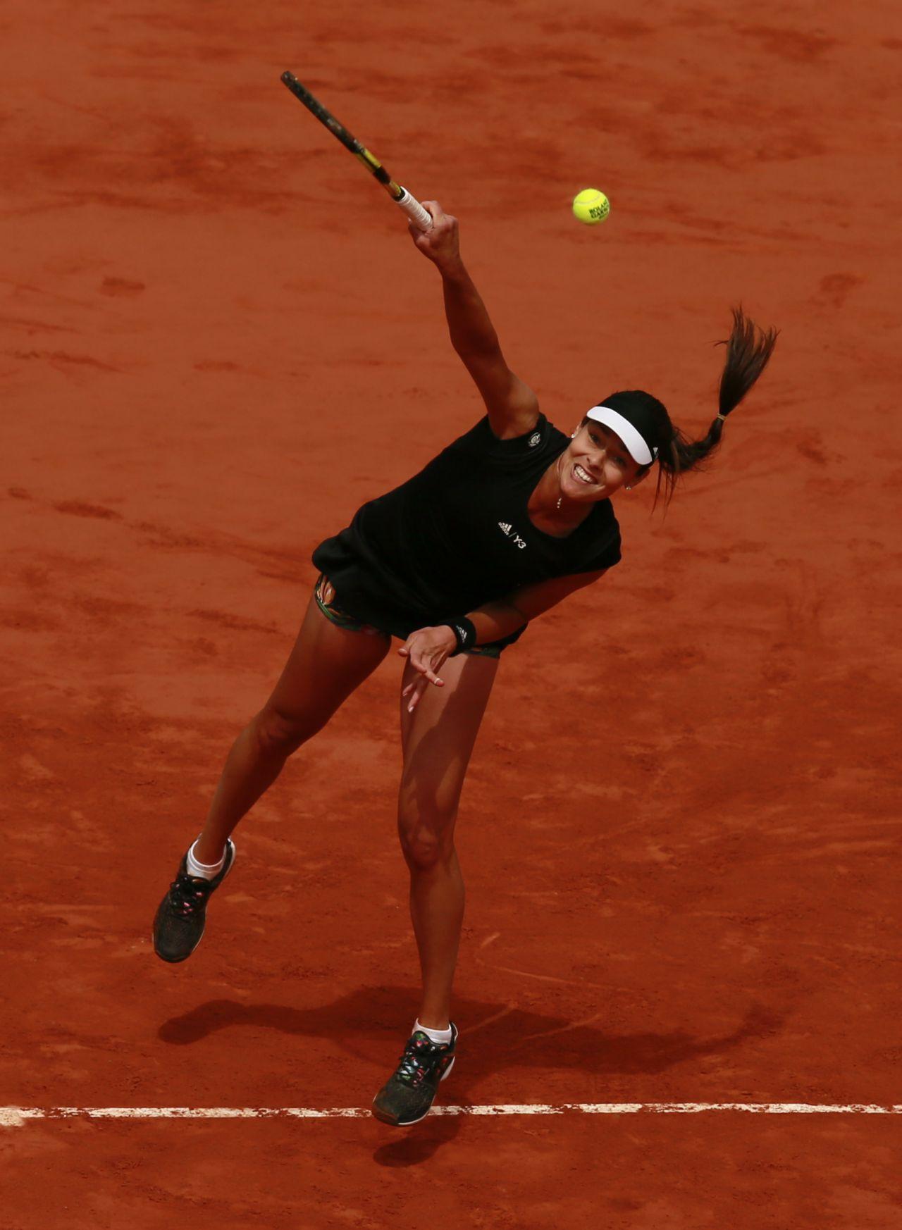 71492cb7094c1 Ana Ivanovic – 2015 French Tennis Open at Roland Garros in Paris –  Quarterfinals