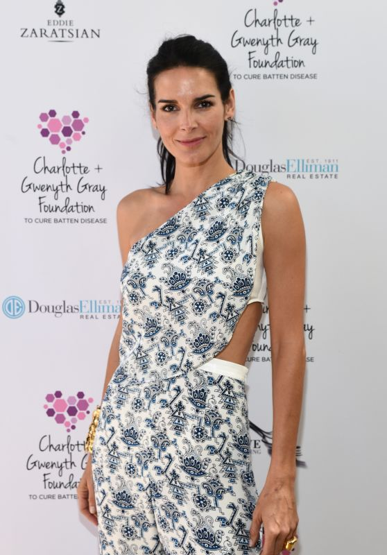 Angie Harmon - Charlotte & Gwenyth Gray Foundation Tea Party in Brentwood