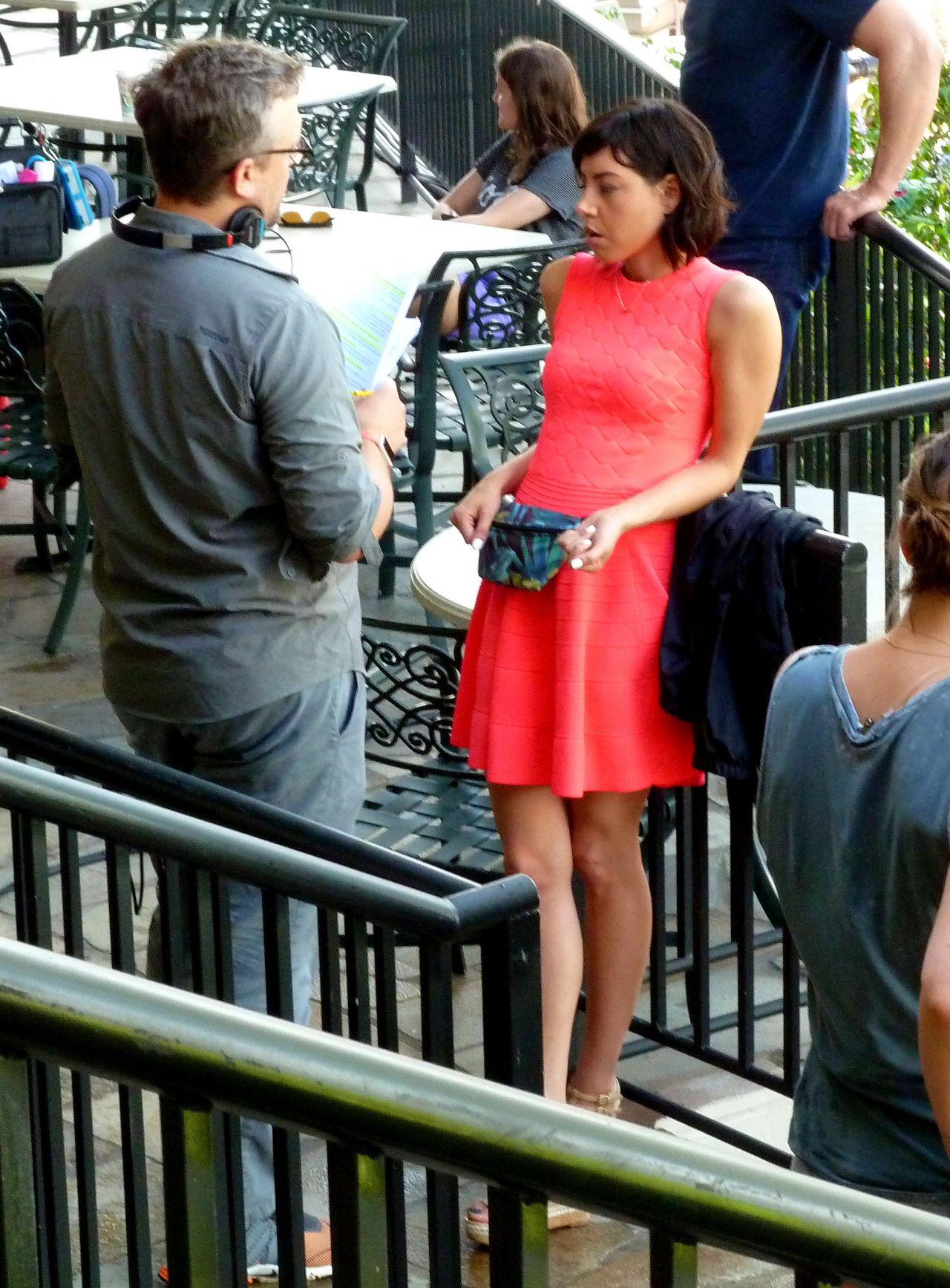 Anna Kendrick Amp Aubrey Plaza Filming Scenes For Their