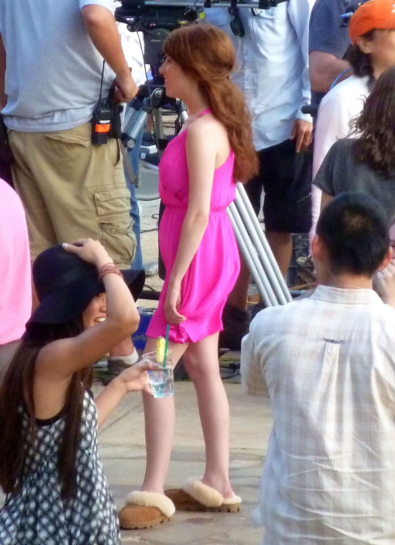 Anna Kendrick Amp Aubrey Plaza Filming Scenes For Their