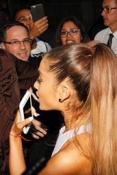 Ariana Grande at Botafumeiro Restaurant in Barcelona, June 2015