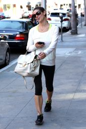 Ashley Greene in Leggings - Out in Beverly Hills, June 2015