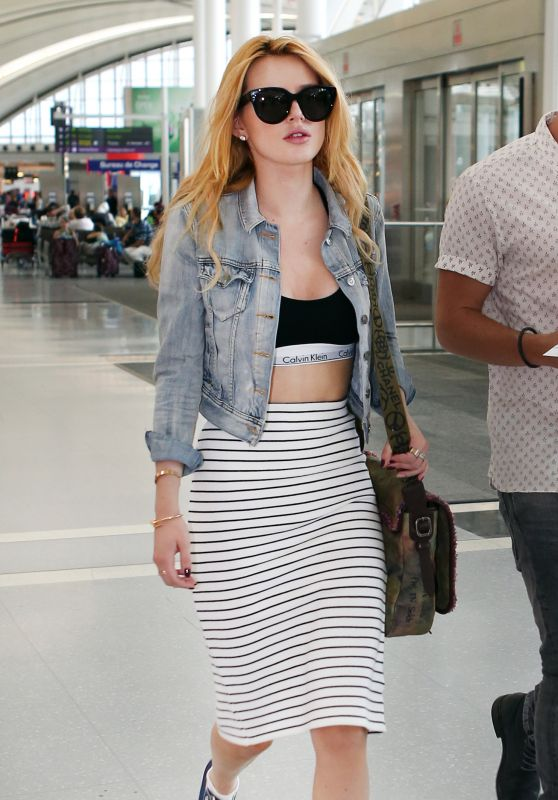 Bella Thorne Street Style - Pearson Airport in Toronto, June 2015