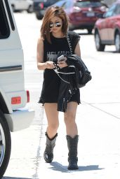 Brenda Song Casual Style - Out in Hollywood, June 2015