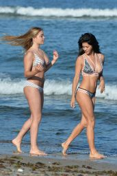 Brooke Burke in a Bikini on a Beach in Malibu, June 2015