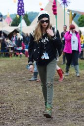 Cara Delevingne at Glastonbury Festival in UK, June 2015