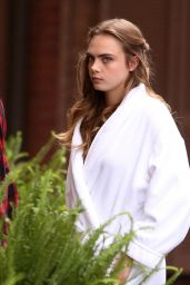 Cara Delevingne - On the Set of