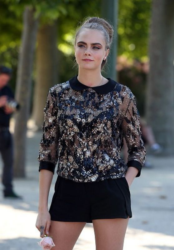Cara Delevingne - Out in Paris, June 2015
