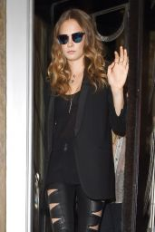 Cara Delevingne Style - Leaving a Hotel in London, June 2015