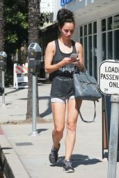 Cara Santana - Leaving the Gym in Studio City, June 2015
