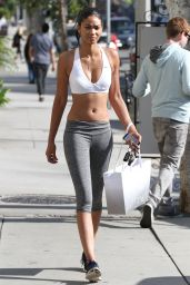 Chanel Iman in Leggings - Out in West Hollywood, June 2015