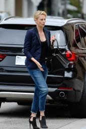 Charlize Theron Casual Style - Outside Bouchon Restaurant, June 2015