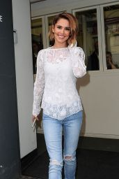 Cheryl Tweedy in Ripped Jeans - Leaving Fenwick Store, May 2015