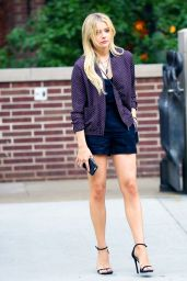 Chloë Moretz Shows Off Her Legs in a Pair of Short Shorts - NYC, June 2015