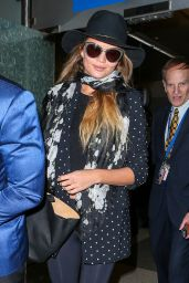 Chrissy Teigen Airport Style - at LAX in LA, June 2015