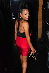 Christina Milian Night Out Style - at Club PlayHouse in Hollywood, June 2015