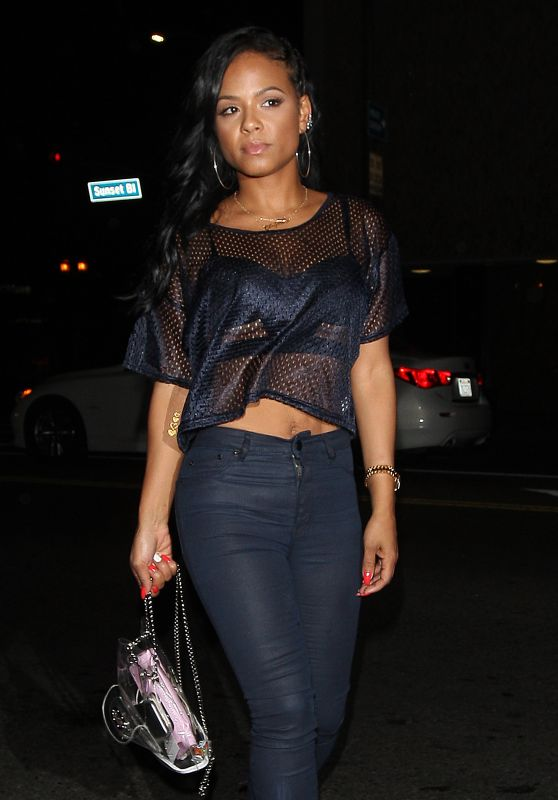 Christina Milian - Outside Warwick Nightclub, June 2015