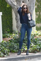 Crystal Reed in Tight Jeans - Leaving Cafe Alfred, June 2015