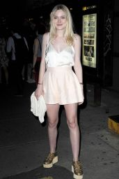 Dakota Fanning Night Out Style - NYC, June 2015