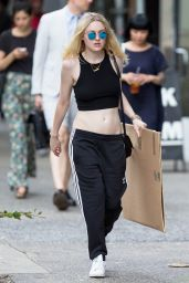 Dakota Fanning Showing her Tummy - New York City, June 2015