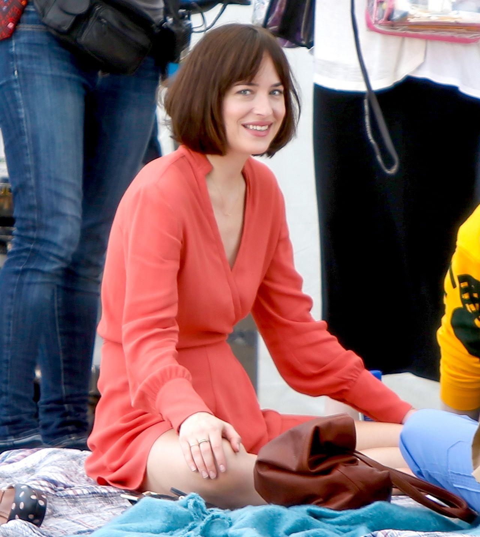 Dakota Johnson How To Be Single Movie Set In New York City, May 2015 '