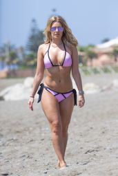 Danielle Armstrong Hot in Bikini - Beach in Marbella, June 2015