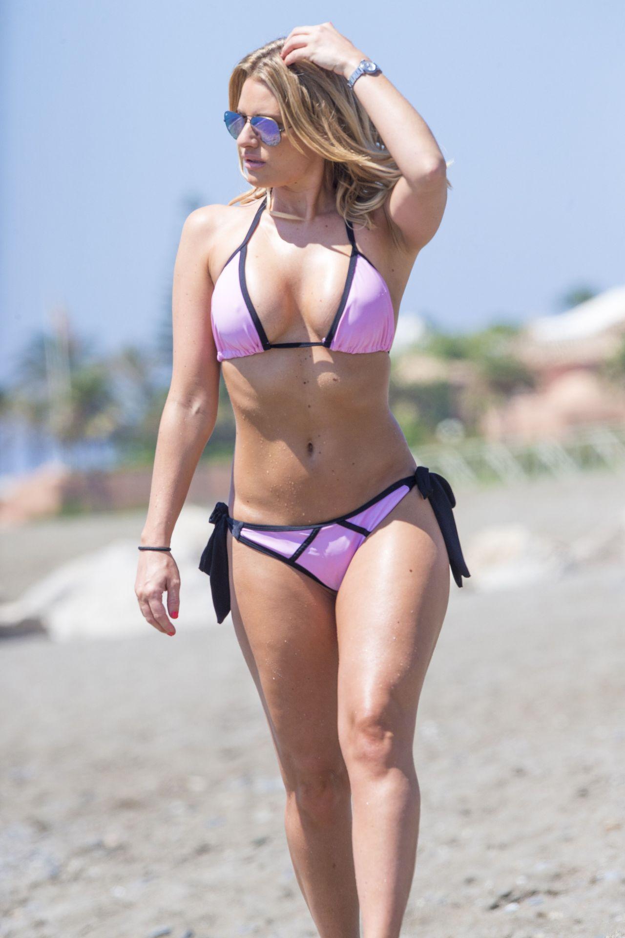 danielle armstrong bikini beach marbella june wearing gotceleb posted