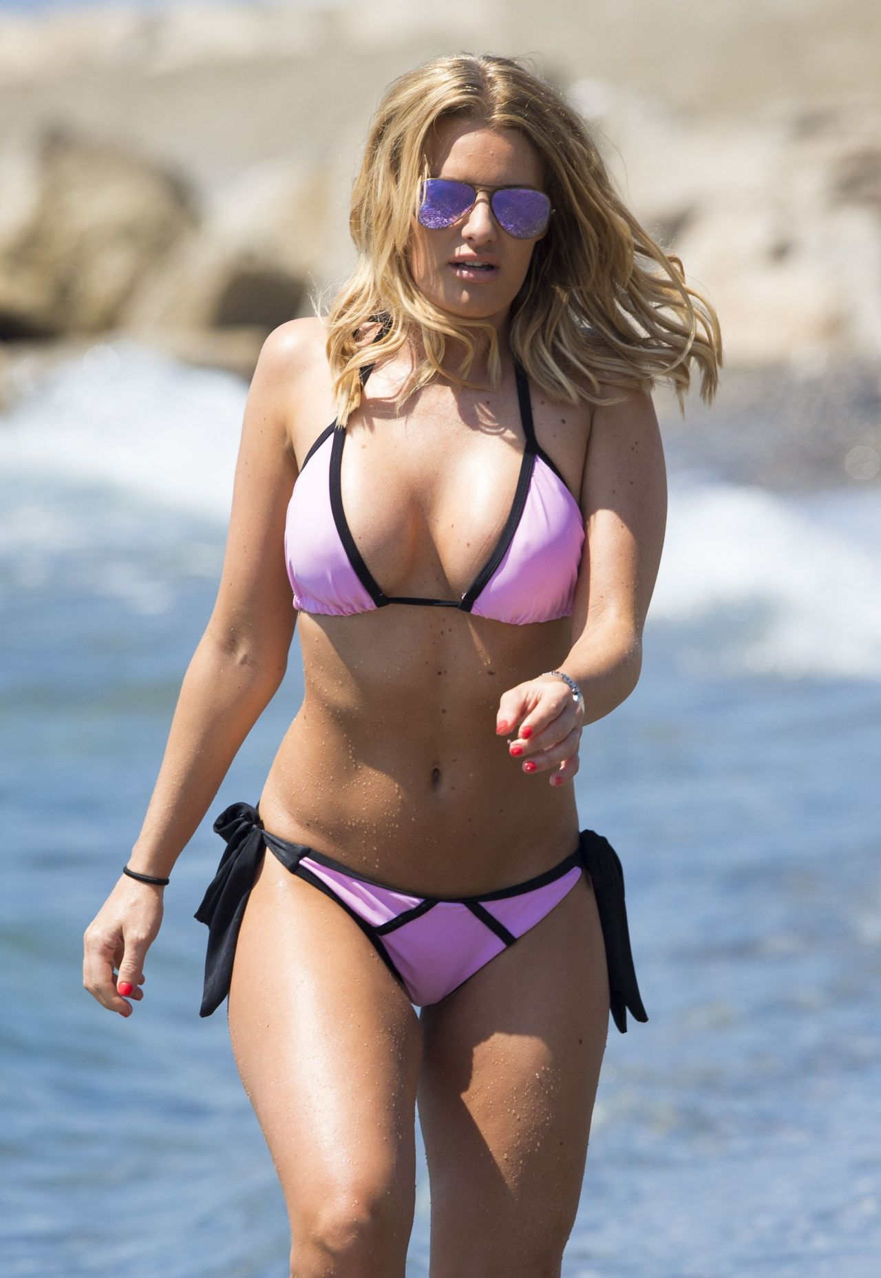 Danielle Armstrong Hot in Bikini - Beach in Marbella, June ...