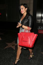 Demi Lovato - Leaving Katuya Restaurant in Hollywood, June 2015