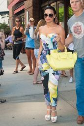 Demi Lovato Street Fashion - Out in NYC, June 2015