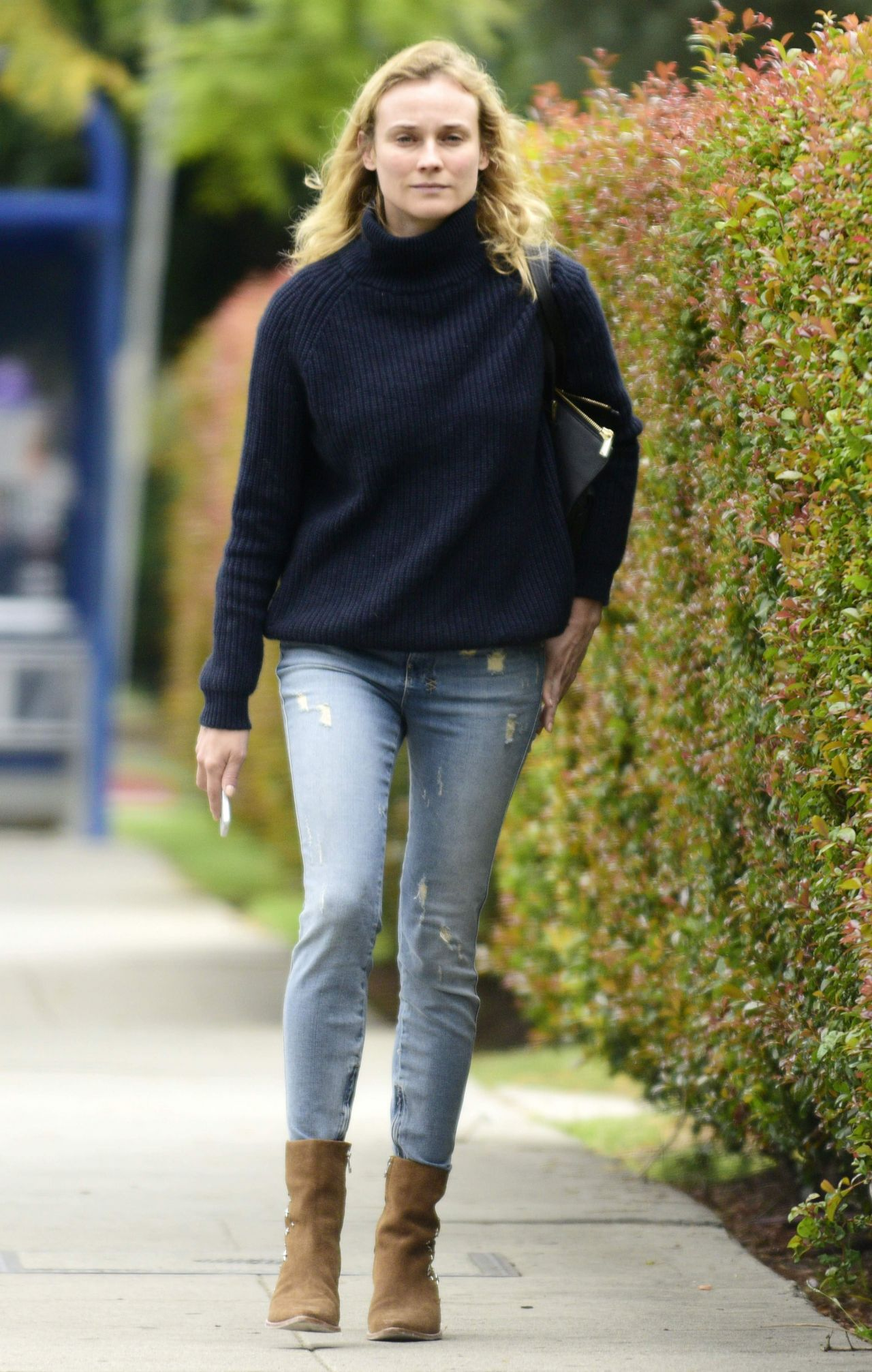 Diane Kruger In Jeans Out In West Hollywood June 2015