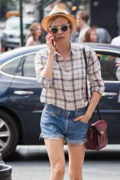 Diane Kruger Leggy in Shorts - Out for a Stroll in NYC, June 2015