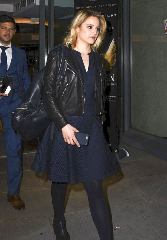 Dianna Agron Leaving the St. James Theatre in London, June 2015