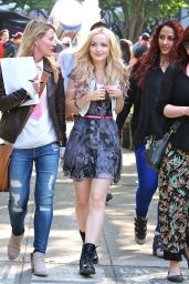 Dove Cameron - On the set of Shawn Mendes Music Video