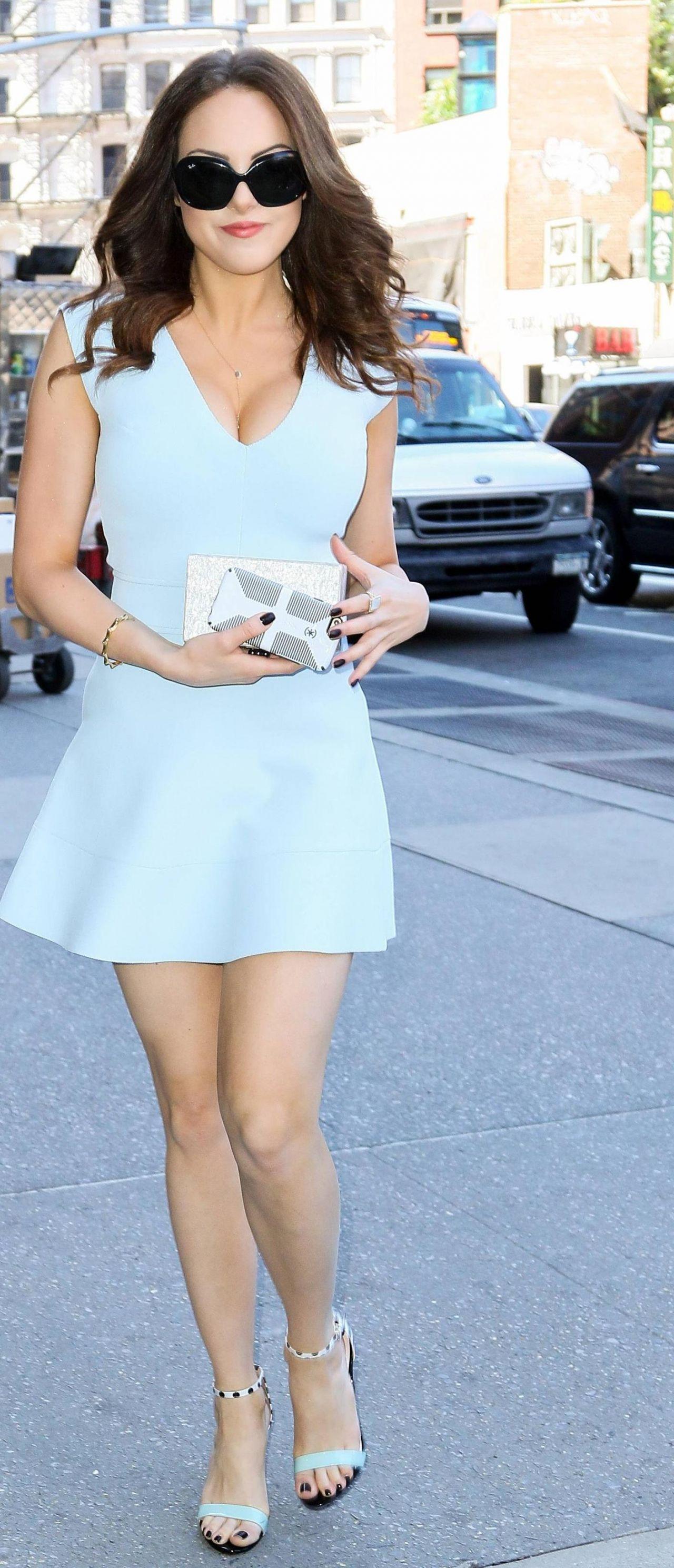 Elizabeth Gillies In Mini Dress June 2015