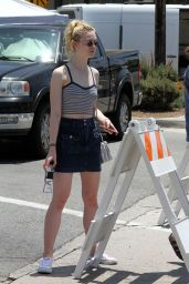 Elle Fanning - Out in LA, May 2015