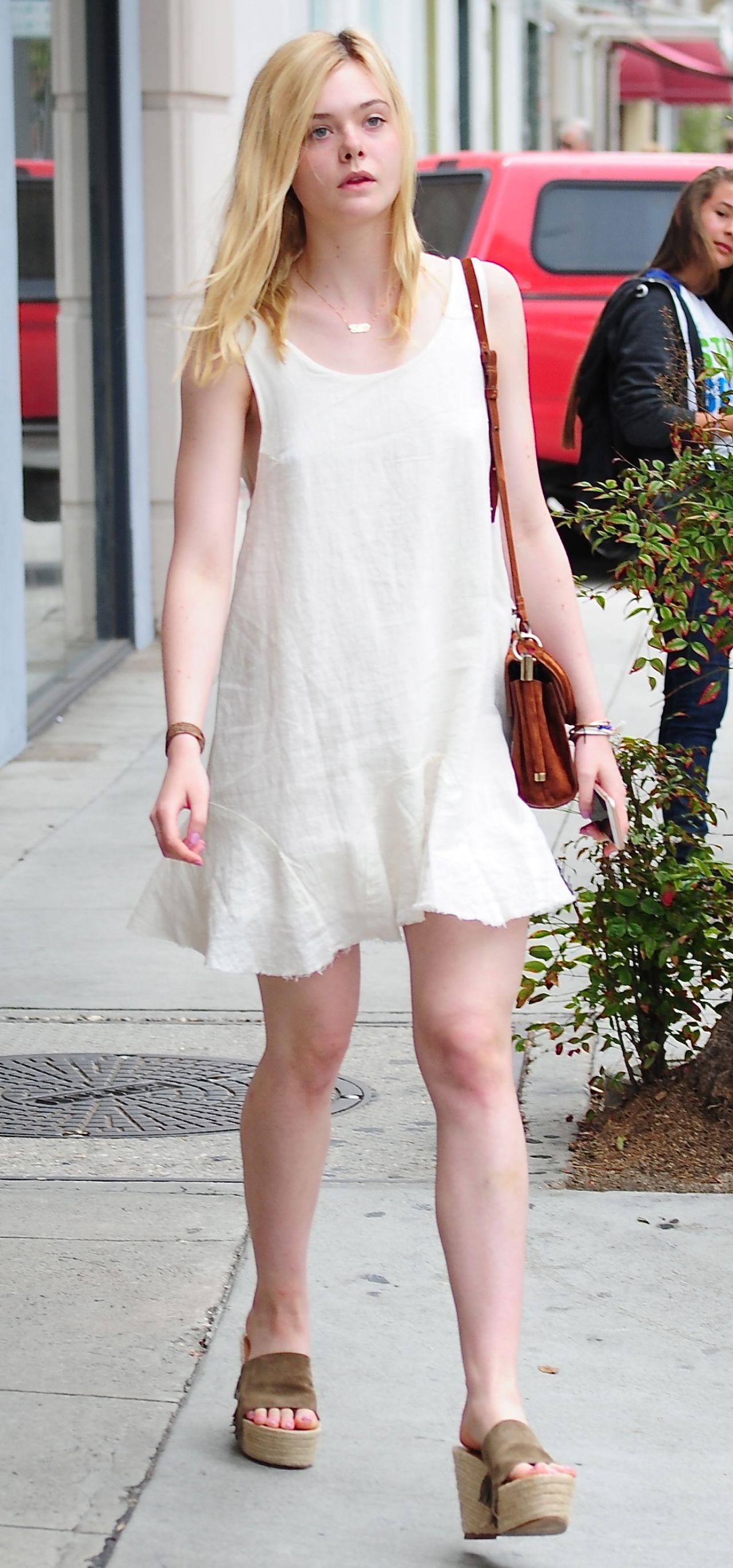 Elle Fanning - Shopping In Beverly Hills, June 2015