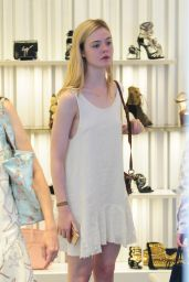 Elle Fanning - Shopping In Beverly Hills, June 2015