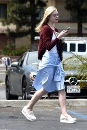 Elle Fanning Street Style - Los Angeles, June 2015
