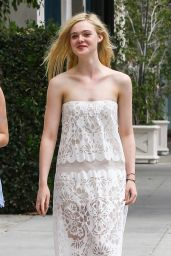 Elle Fanning Style - Out in Beverly Hills, June 2015