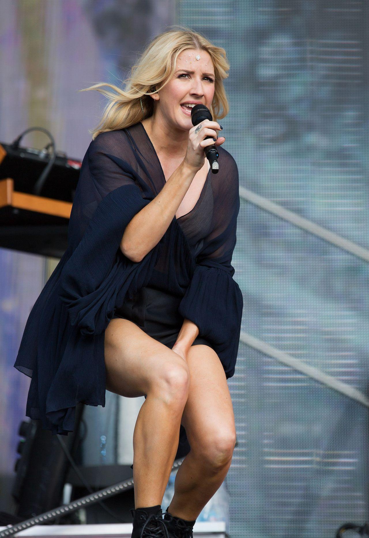 Ellie Goulding Performing at 2015 British Summer Time