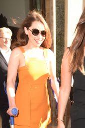 Emilia Clarke - Leaving a Hotel in London, June 2015