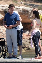 Emilia Clarke - On the Set of