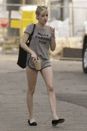 Emma Roberts Leggy in Shorts - New Orleans, June 2015